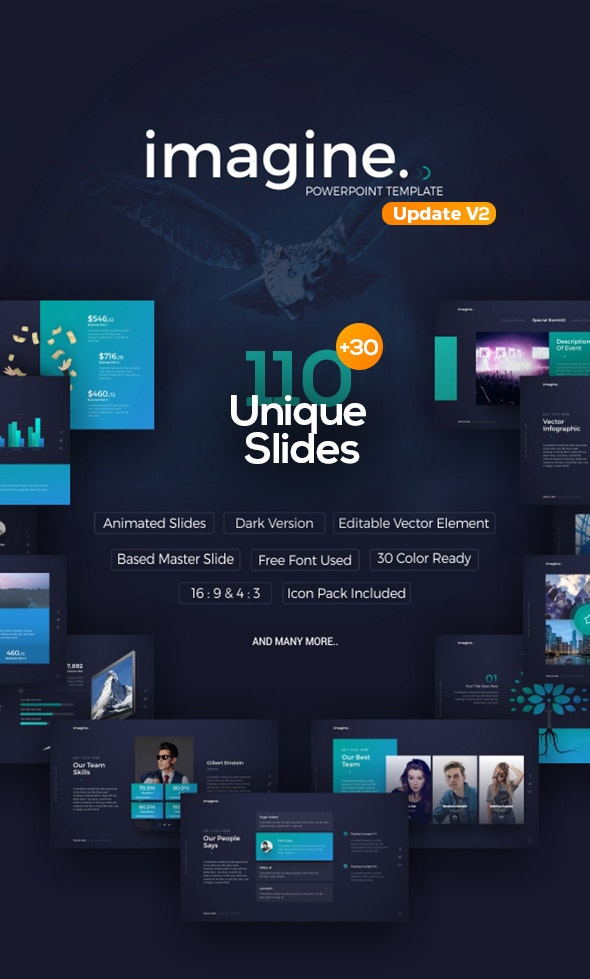 Imagine PowerPoint Template - Business PowerPoint Templates