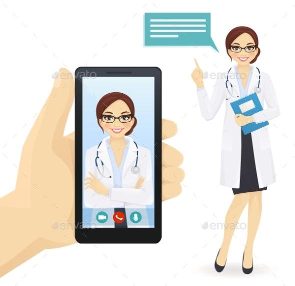 Online Doctor - Health/Medicine Conceptual