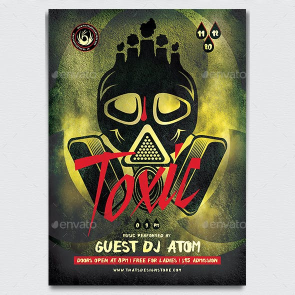 Toxic Night Flyer Template