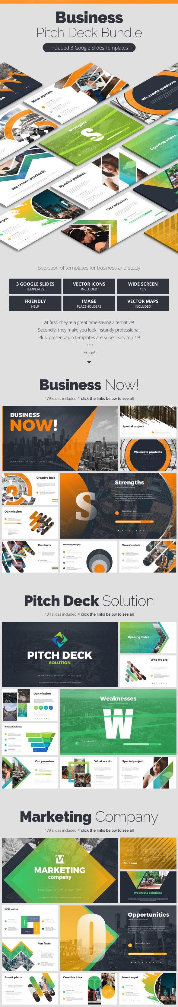 Business Bundle - Google Slides Presentation Templates