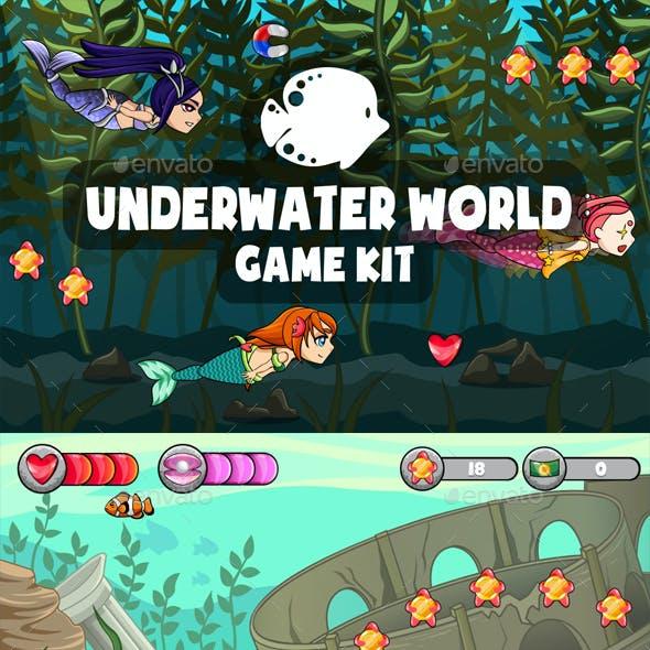 Underwater World 2D Game Kit