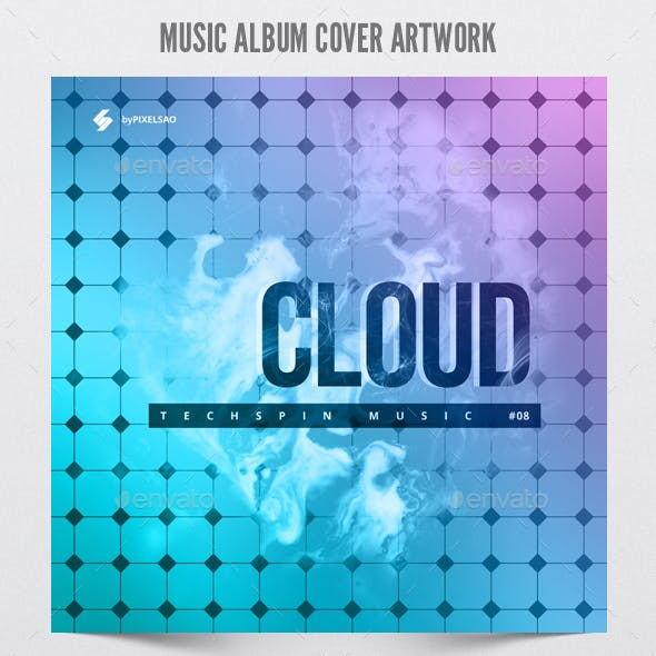 Cloud - Music Album Cover Artwork Template