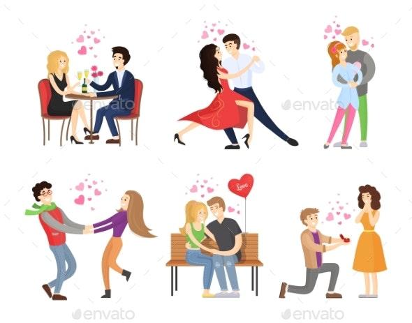 Boyfriend and Girlfriend - People Characters