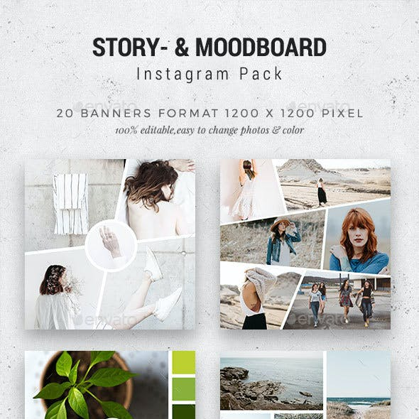 Story-/Moodboards for Instagram