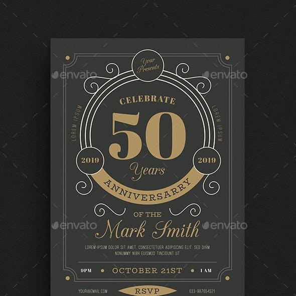 Vintage Anniversary Invitation/Flyer