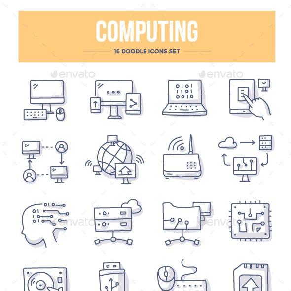Computing Doodle Icons