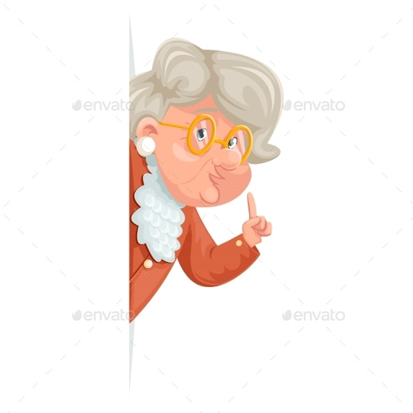 Wise Advice Look Out Corner Grandmother Talking - Miscellaneous Vectors