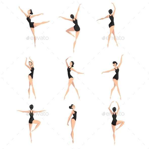 Female Ballet Dancer Set - Miscellaneous Vectors