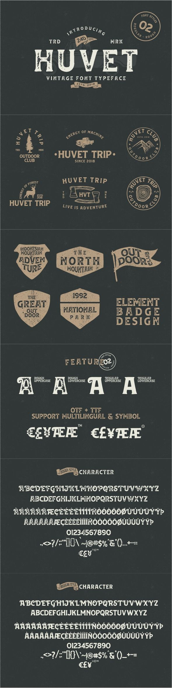 Huvet - Fancy Fonts