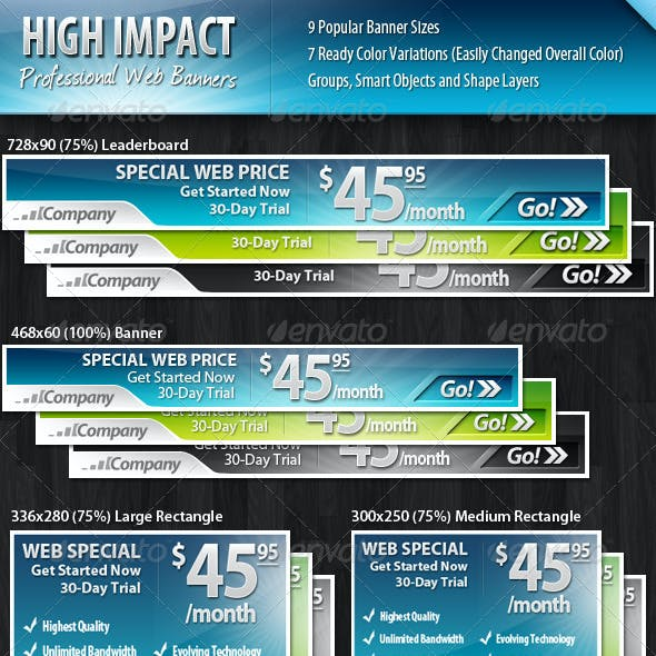 High Impact Professional Web Banners