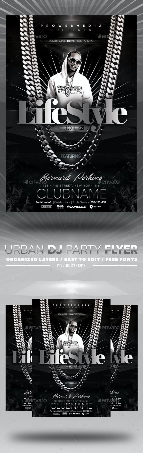 Urban DJ Party Flyer - Clubs & Parties Events