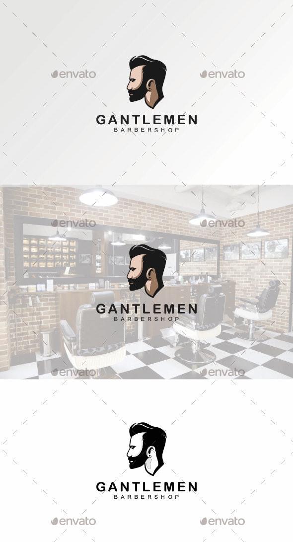 Barbershop Logo - Humans Logo Templates
