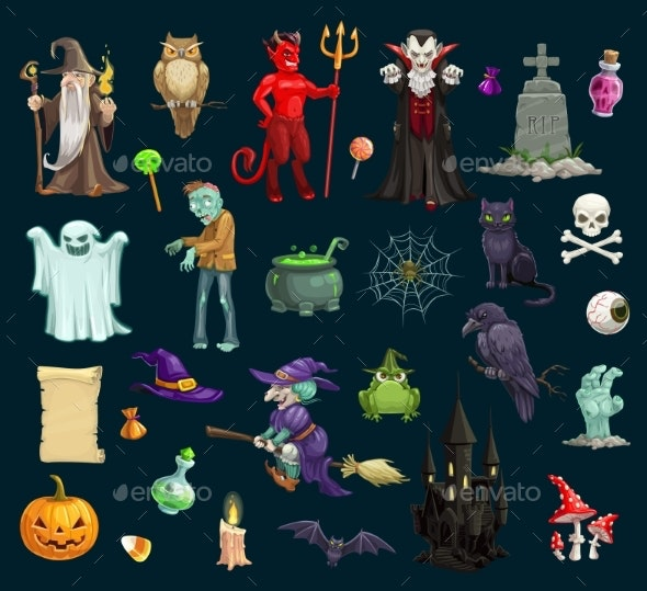 Halloween Holiday Evil Characters - Halloween Seasons/Holidays