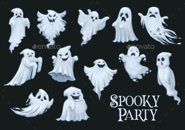 Halloween Vector Ghosts - Halloween Seasons/Holidays