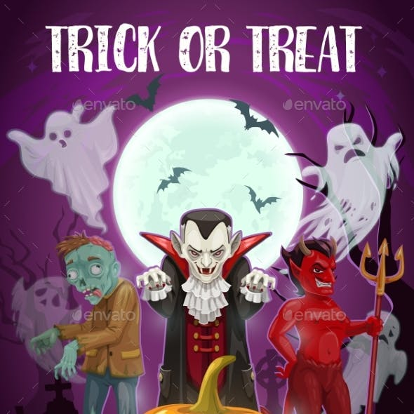Trick or Treat Halloween Holiday