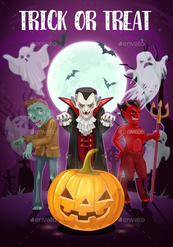 Trick or Treat Halloween Holiday - Halloween Seasons/Holidays