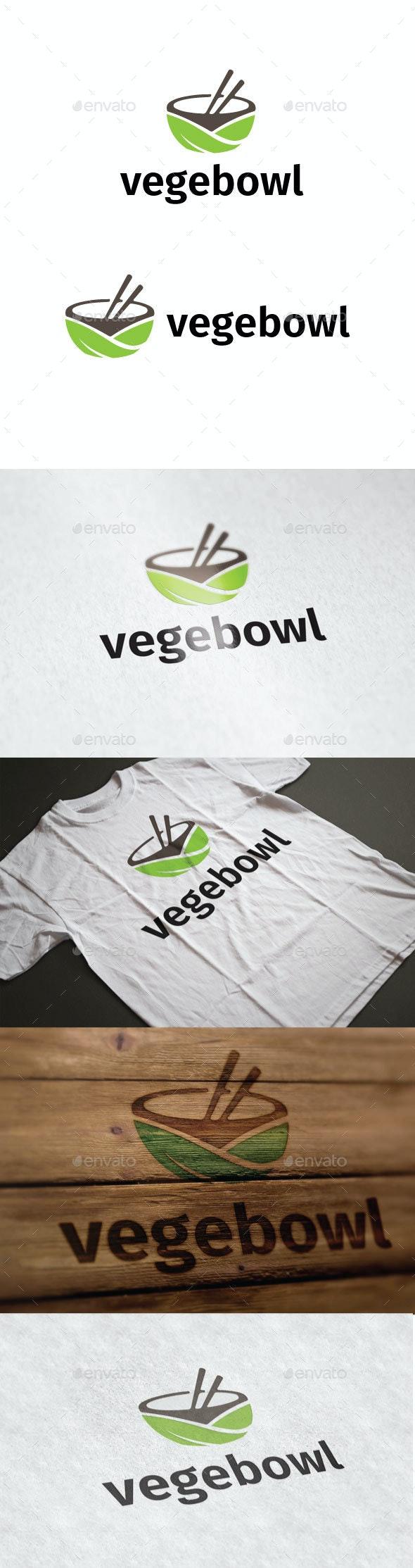 Vegebowl Logo - Nature Logo Templates