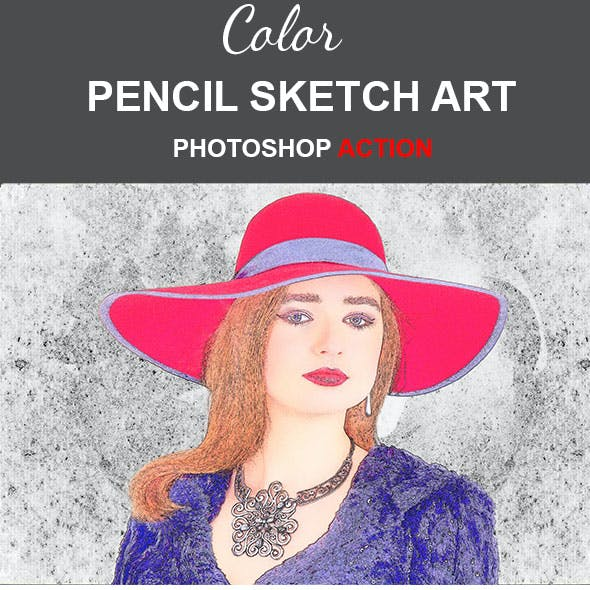 Color Pencil Sketch Art Photoshop Action