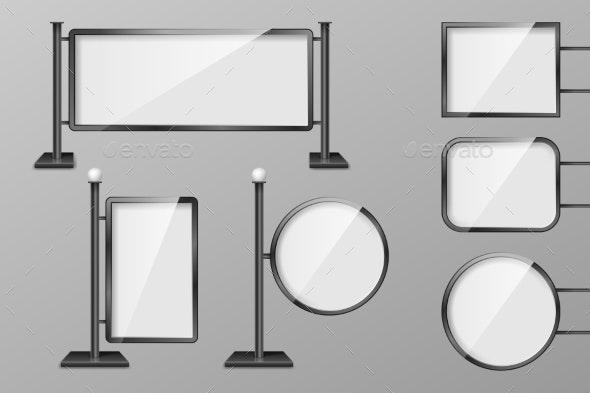 Outdoor Retail Lighting Billboards - Miscellaneous Vectors