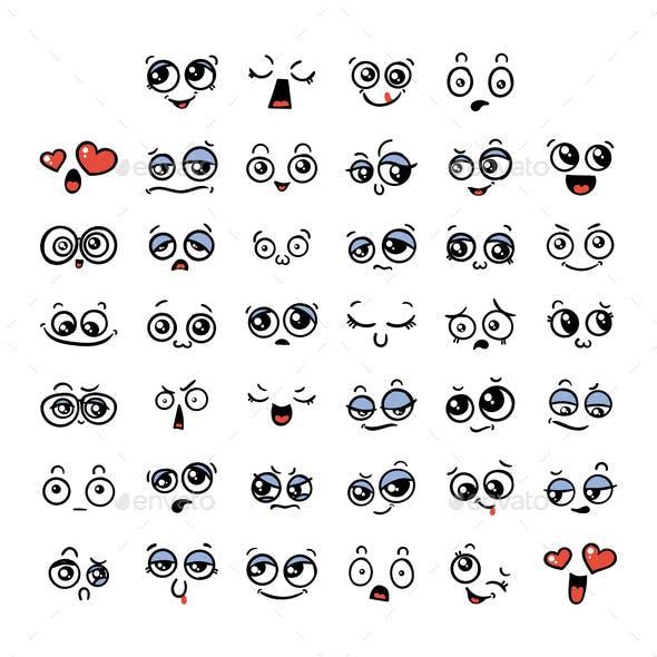 Set of Kawaii Emoticon