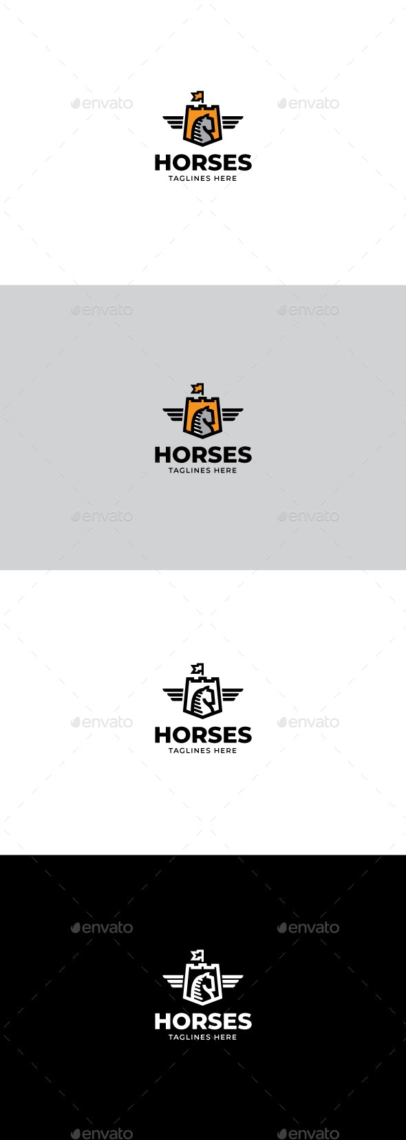 Horses logo - Animals Logo Templates