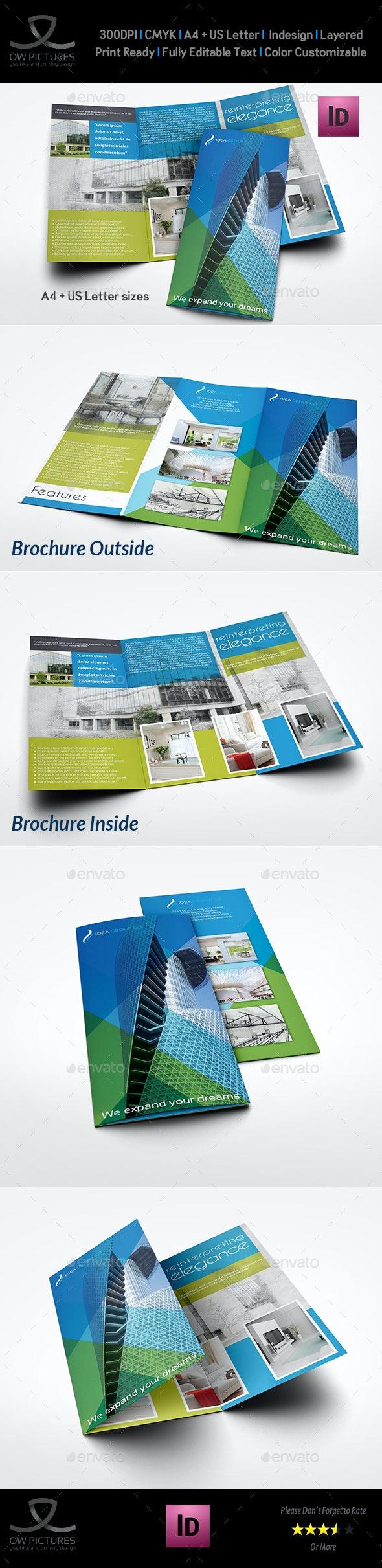 Architectural Design Tri-Fold Brochure Template Vol.2 - Brochures Print Templates