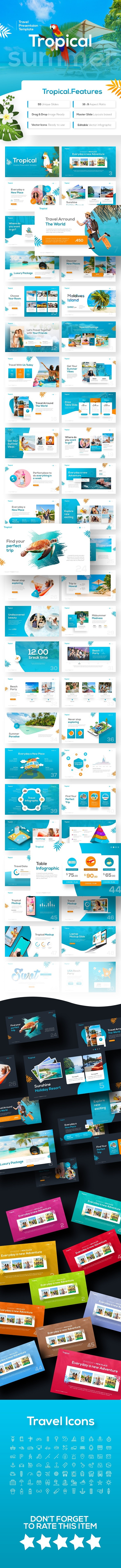 Tropical Travel Presentation Template - PowerPoint Templates Presentation Templates
