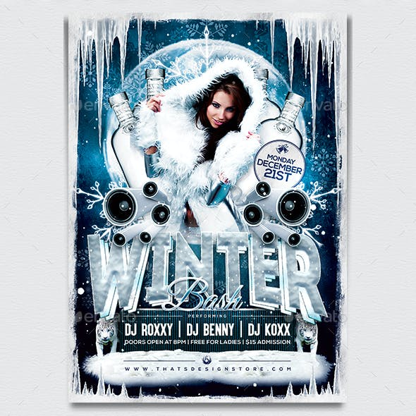 Winter Bash Flyer Template V1