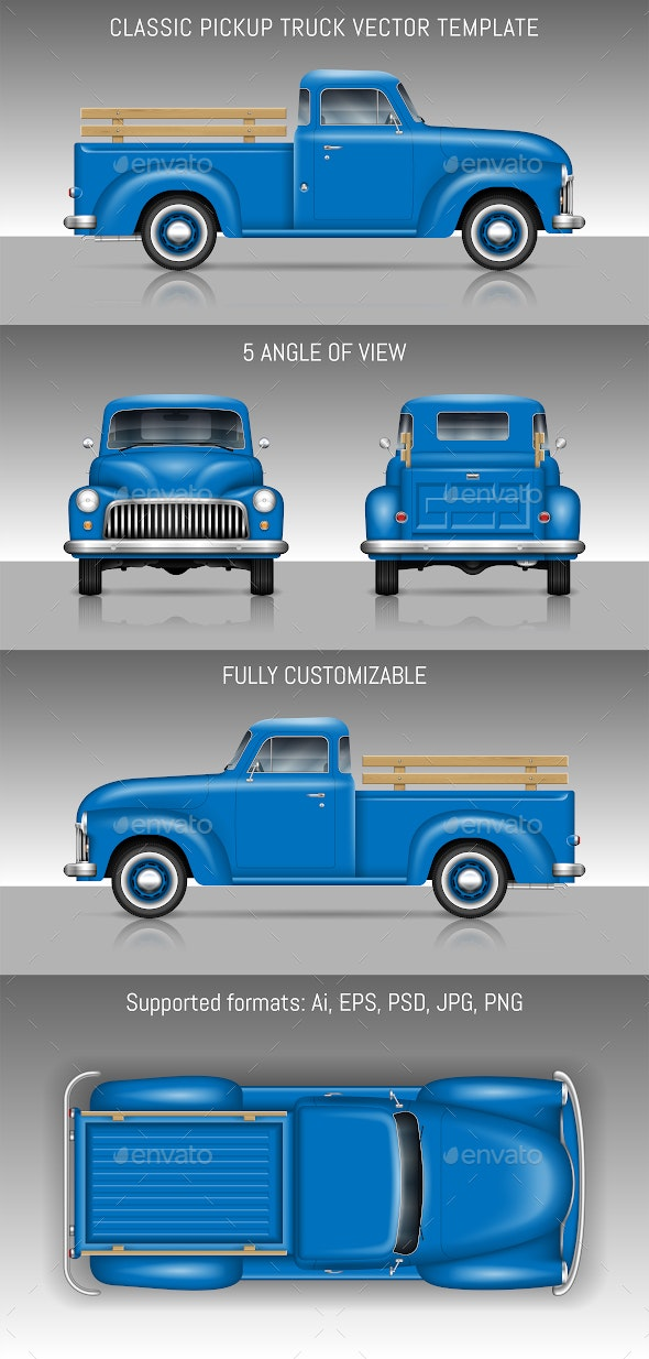 Classic Pickup Truck - Man-made Objects Objects