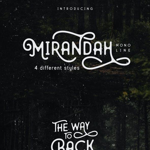 Mirandah | Monline Font Family