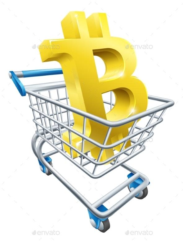 Shopping Cart Bitcoin Concept - Concepts Business