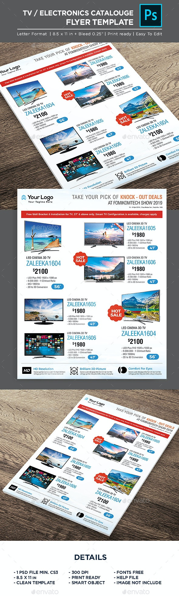Product Flyer - TV Sale Promotion - Corporate Flyers