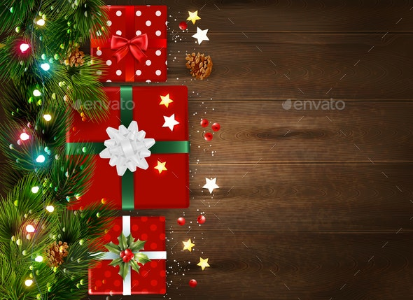 Christmas Realistic Background - Christmas Seasons/Holidays