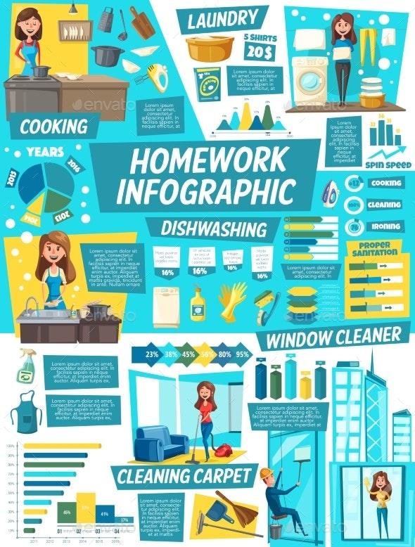 Housework Infographics - People Characters