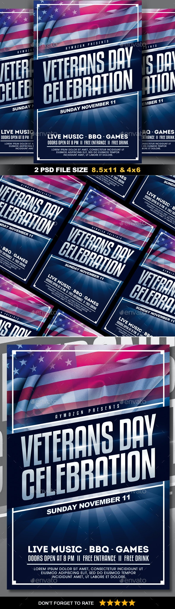 Veterans Day Flyer - Clubs & Parties Events