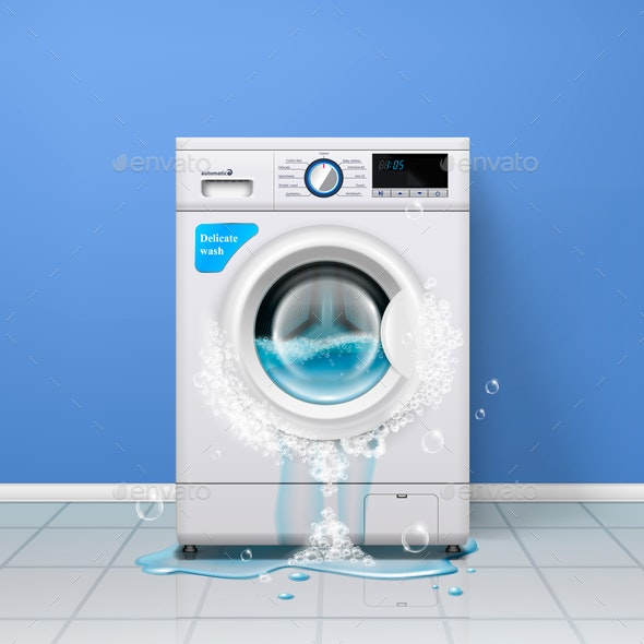 Broken Washing Machine Composition - Man-made Objects Objects