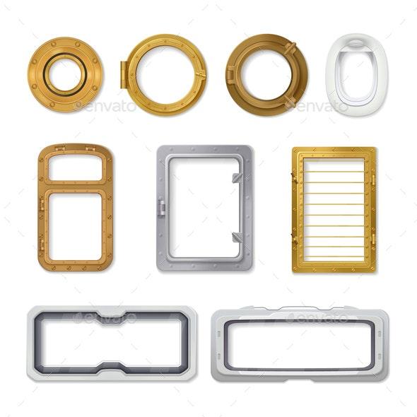 Porthole Realistic Icon Set - Miscellaneous Vectors