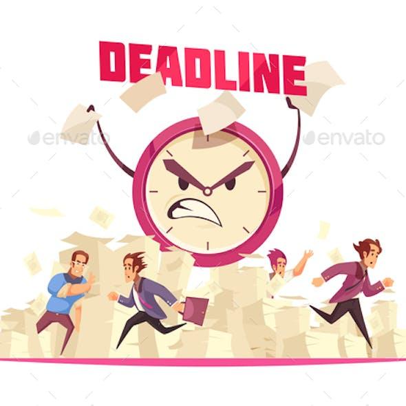 Deadline Vector Illustration