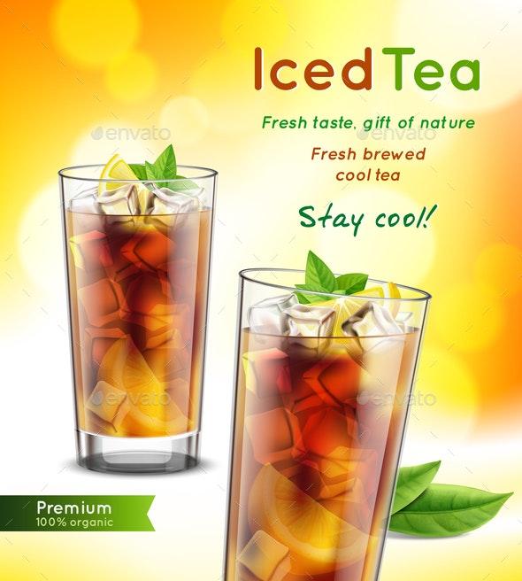 Tea Realistic Advertisement - Food Objects