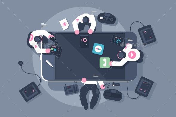 Programmers Team Mobile App Interface Development - Concepts Business