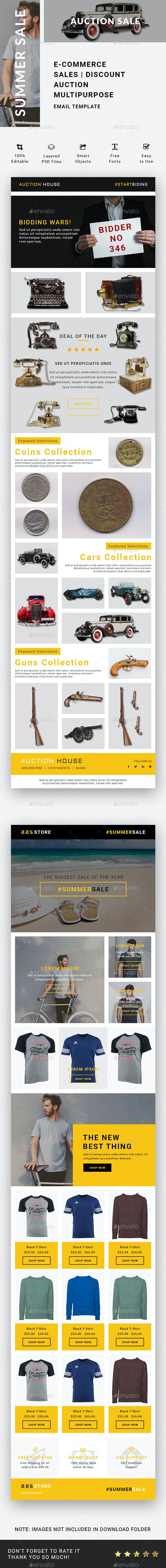 Sales Email Template - E-newsletters Web Elements