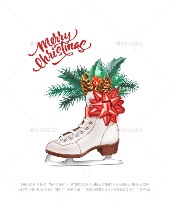 Vector Realistic Merry Christmas Holly Leaves Fir - Christmas Seasons/Holidays