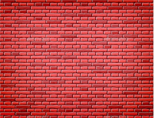 Vector Red Brick Wall Texture Background Design By Iwhitewings