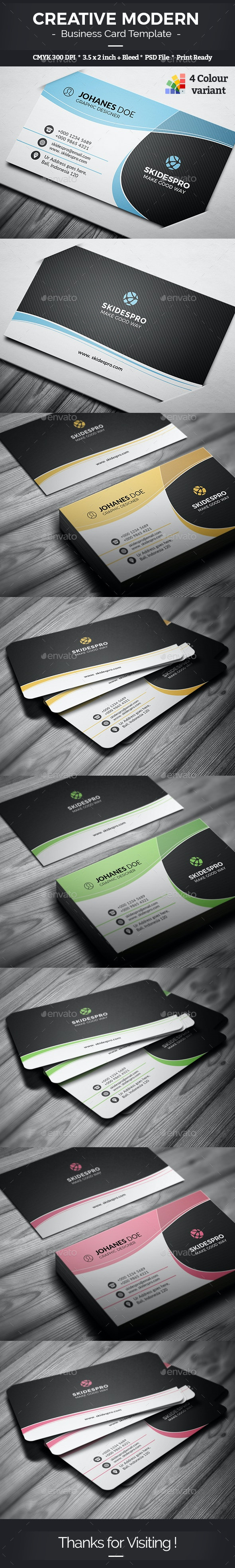 Creative Modern Business Card Template - Creative Business Cards