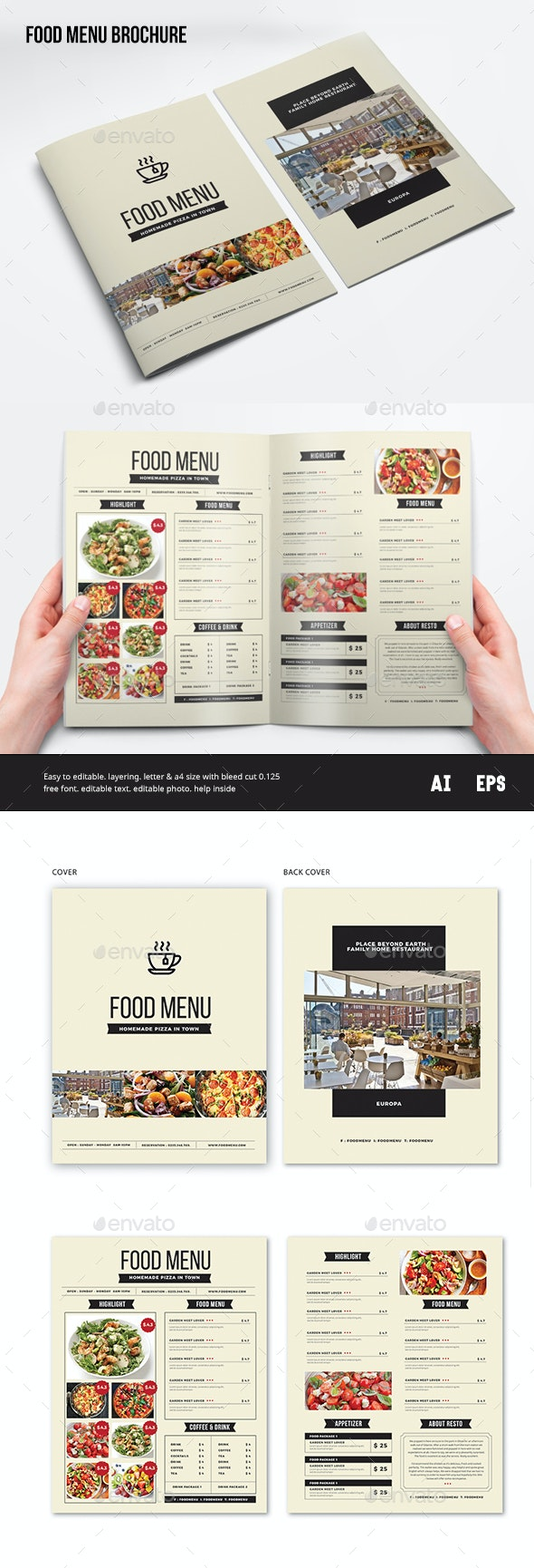 Food Menu - Brochures Print Templates