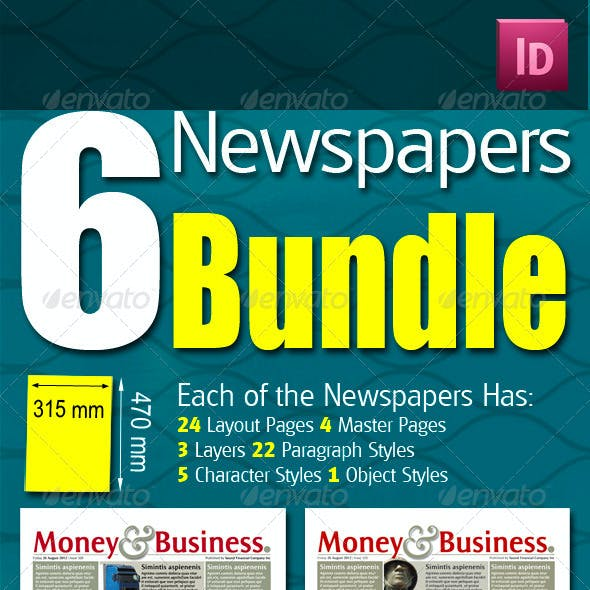 6 Berliner Sized Newspapers Bundle