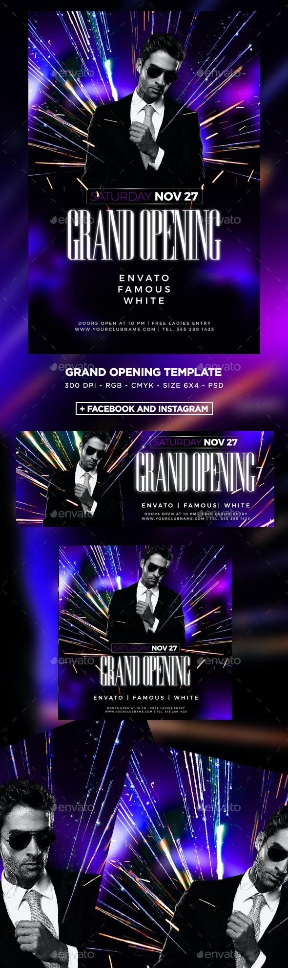 Grand Opening Dj Flyer - Clubs & Parties Events