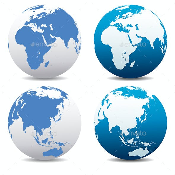 World and Globes Earth Collection Pack of 30 x Two Types
