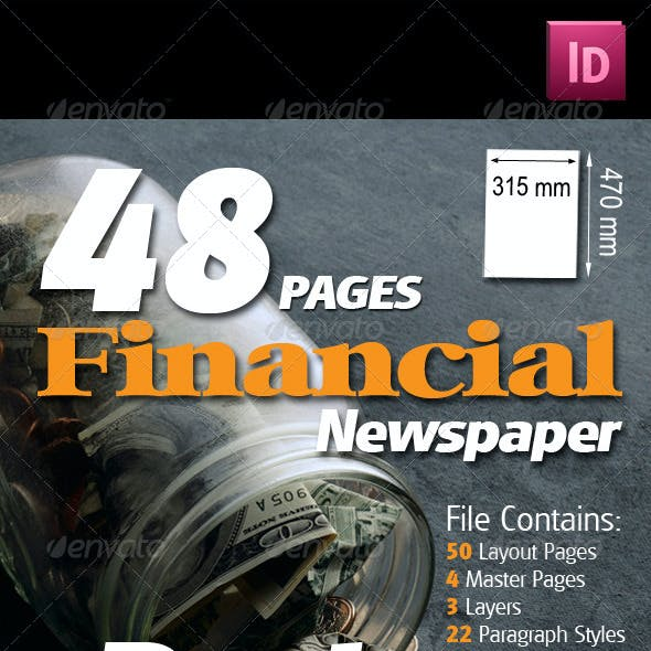 48 Pages Financial Newspaper Pack