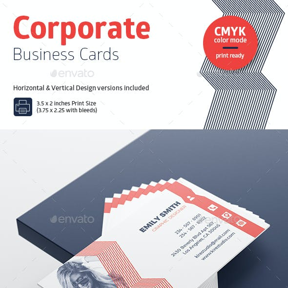 Horizontal & Vertical Corporate Business Cards #3